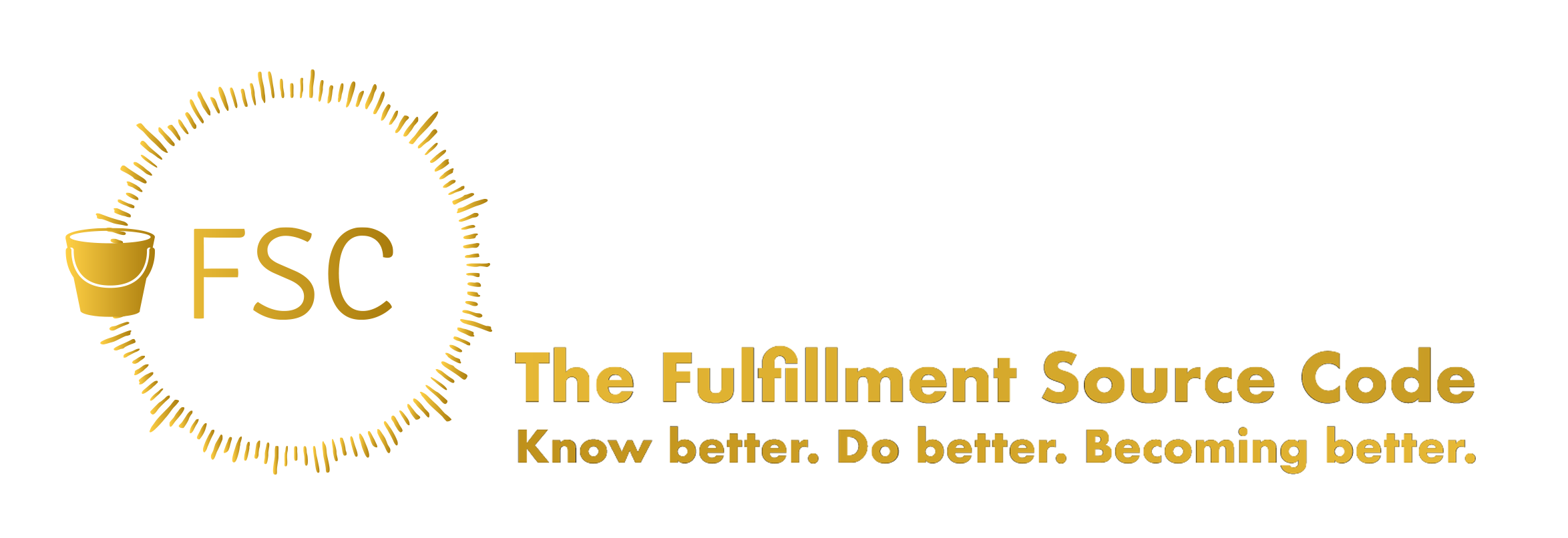 This is the Fulfillment Source Code's Logo and Wordmark. It says The Fulfillment Source Code Know Better. Do Better. Becoming Better.